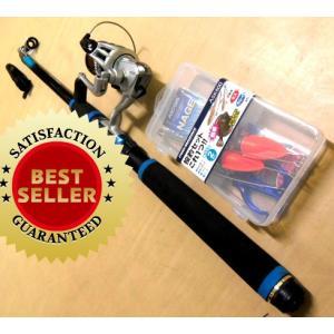 釣り竿セット 投げ釣りセットプロマリン わくわく ちょい投げ釣りセット DX 240cm|nankiya