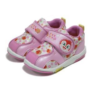 女児靴 アンパンマン ベビー08 ピンク マジックタイプ ムーンスター 月星|nankyu