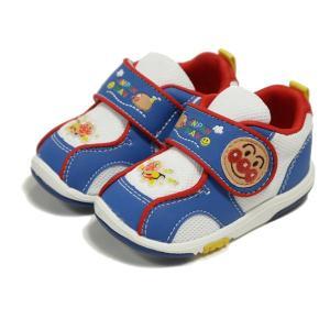 男児靴 アンパンマン ベビー08 ブルー マジックタイプ ムーンスター 月星|nankyu