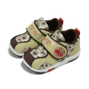 女児靴 男児靴 アンパンマン ベビー08 ブラウン マジックタイプ ムーンスター 月星|nankyu