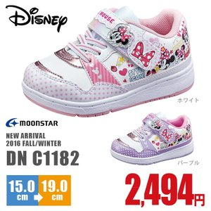 ディズニー  スニーカー DN C1182 ベビー マジックテープタイプ キッズ 軽量 子供靴 男の子 女の子 Disney nankyu
