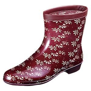 婦人長靴 レインブーツ ラベリア 10 ワイン (ムーンスター月星)|nankyu