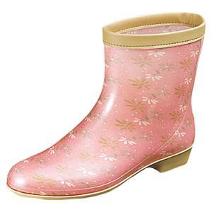 婦人長靴 レインブーツ ラベリア 10  ピンク (ムーンスター月星)|nankyu