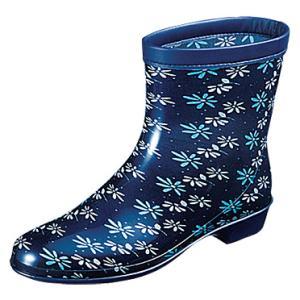 婦人長靴 レインブーツ ラベリア 10 ネイビー (ムーンスター月星)|nankyu