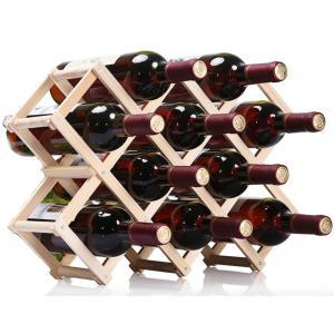 折りたたみ式 ワインラック 木製 ホルダー ワイン シャンパン ボトル 収納 ケース スタンド イン...