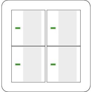 2randd パナソニック コスモシリーズワイド21 表示付・・ネームなし 2連ラウンドプレートホワイト・ハンドルセット スイッチ4個用|nano1