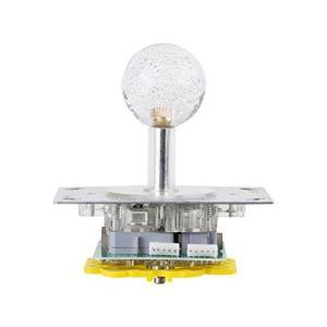 ジョイスティックレバー 基板タイプ静音高反発 小型アーケードジョイスティック LEDカラフル セイミ...