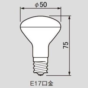 大井川電機 ミニクリプトン電球 50W形 口金E17 R形(反射形) KR100/110V45WR50 nano1