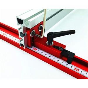 CarAngels 木工シュート 専用 リミッタ & フェンスコネクタ マイタートラック 位置決め及びフェンス連結 テーブルソー用 (長いハ|nano1