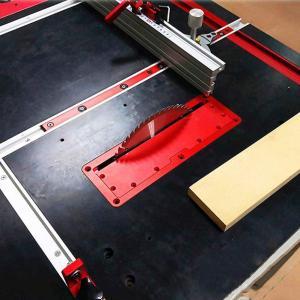 大工用 木材切断補助器 DIY用 調整可能 アルミ合金 テーブル 埋め込みカバー テーブルソー 安全性アップ インサートプレート 電気丸鋸フ|nano1