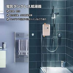 Acogedor 電気タンクレス給湯器、3400W 110V電気タンクレス給湯器、 温水ヒーター、冷たい水をお湯に変える、 高効率、 多用途|nano1