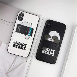 ボクラベアベアーズ iPhoneケース iPhone X iPhone10 アニマル 動物 フェイク レザーポケット付き カード収納 ユニー nano1