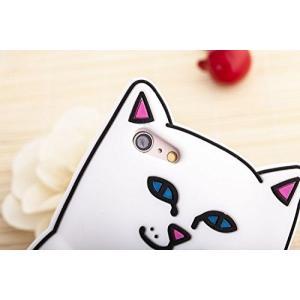 hana iPhone5/5s/6/6s/6plus/6s plus 可愛い 笑い 猫 ケース スマホ スタンド セット シリコンケース ソ nano1