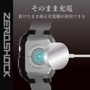 エレコム Apple Watch ケース 44mm ZEROSHOCK ブラック AW-44ZEROBK AW-44ZEROBK|nano1