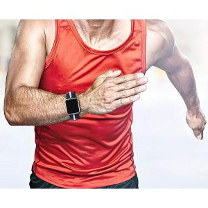 VICARA forApple Watch Series 4 44mm バンド 新型シリコン 運動型 柔らか(青い&白)|nano1