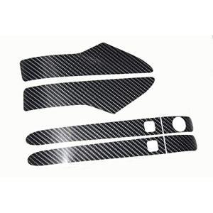 スズキ スイフト ZC13S 4Dブラックカーボン調 ドアハンドル グリップ 用シート 前後 4pcs スマートキー車 ZC33S ZC43|nano1