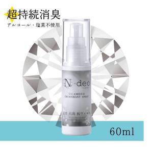 消臭・抗菌・抗ウイルス! ダイヤモンドを使った液体スプレー 超持続消臭・N-deo(エヌデオ)【60ml】洗いにくい小物に|nanodiamonds