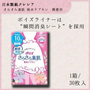 成人用 吸水ナプキン 微量用 10cc 30枚 羽なし 17.5cm ポイズ さらさら 吸水ライナー 無香料 1パック(30枚)尿漏れ 日本製紙クレシア|nanohanakaigo