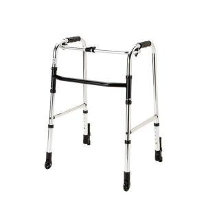 歩行器 歩行車  高齢者 軽量 折りたたみ   前輪 固定 キャスター  重さ2.5kg 固定型 HK-110|nanohanakaigo