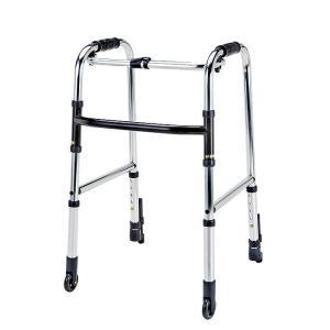 歩行器 歩行車 高齢者 軽量 折りたたみ  ミニタイプ 前輪 固定型 キャスター HKM-110|nanohanakaigo