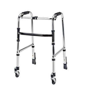 歩行器 歩行車 マキテック 高齢者 軽量 折りたたみ  固定型 ミニタイプ 前輪 自在キャスター  重さ2.7kg HKM-120|nanohanakaigo