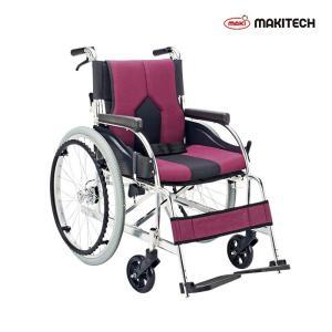 車椅子 自走式車椅子  折りたたみ 背折れ  車いす カラーズ COLORS パープル KC-1PU nanohanakaigo