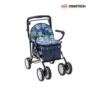シルバーカー  ボックスタイプ おしゃれ カバー ノーブルプラス 青花柄 NBP-2BF |nanohanakaigo