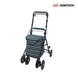 シルバーカー  ミドルサイズ  おしゃれ カバー 軽量 らくらくスリムバスケット ストライブネイビー YX-371SN nanohanakaigo