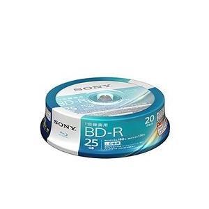 ソニー ビデオ用BD-R 片面1層25GB6倍速 ホワイトプリンタブル20枚スピンドル 目安在庫=△
