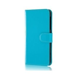 【Y!mobile 507SH /AQUOS ea手帳型ケース シンプル マグネット/ブルー】 検索...