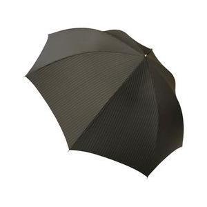 大判紳士綾織ワンタッチ傘(ブラック) K10709338 取り寄せ商品 nanos