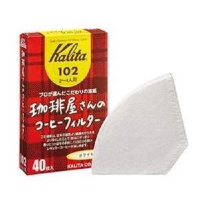 KALITA (カリタ) 珈琲屋さんのコーヒーフィルター 102 ホワイト 40枚 目安在庫=△ nanos
