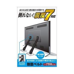 エレコム TV用耐震ベルト/〜75V用/ネジどめタイプ(VESA穴)/2本入 TS-006N メーカー在庫品