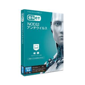 ESET ESET NOD32アンチウイルス 5PC更新(対応OS:WIN&MAC) 目安在庫=○ nanos