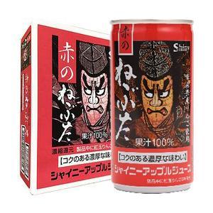 シャイニー 青森の味!アップルジュース (新)赤のねぶた缶 190g×30缶 目安在庫=○|nanos