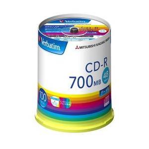 Verbatim CD-R(Data) 700MB 48倍速 スピンドルケース100P SR80FP100V1E 目安在庫=△