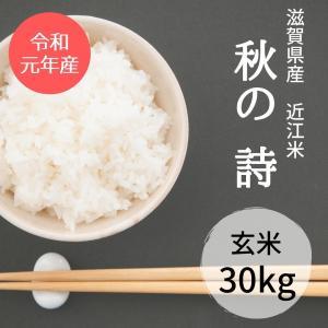 滋賀県産 近江米 秋の詩 令和元年 玄米30kg|nantan-smile