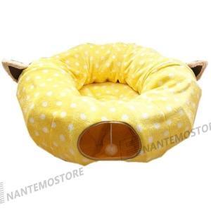 猫ベッド 猫用ベッド ペットベッド キャットトンネル メッシュ 折りたたみ式 猫 ねこ ネコ キャッ...