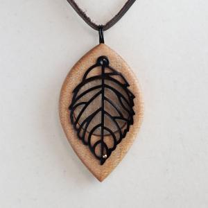 天使の小瓶 木の葉 ブラック|naomifactory