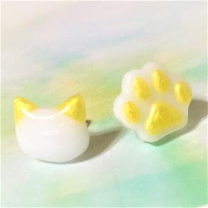 ねこと肉球ピアス |naorelax