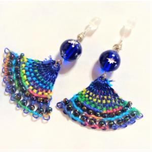 ニャンドゥティピアス 樹脂ピアス エンジェル エスニック 伝統工芸 手編みピアス 刺繍|naorelax