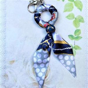 スカーフのバッグチャーム スカーフのキーホルダー|naorelax