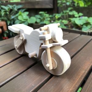 木製オートバイ インテリア バイク オブジェ おもちゃ 手作り naorelax