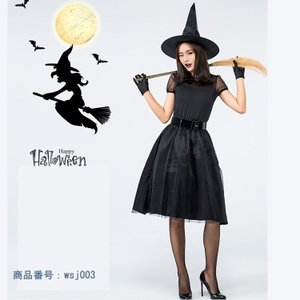 ハロウィン コスプレ 衣装 仮装 ウィッチ 魔女 巫女 コスチューム 悪魔 halloween ハロウィンパーティー ワンピース レディース 黒 ステージ衣装 四点セット