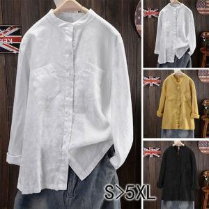 シャツ ブラウス 春 レディース 無地 40代 長袖 ロングシャツ トップス 体型カバー ゆったり 大きいサイズ 体型カバー ホワイト 白 黒 黄 6L|nara-amaken