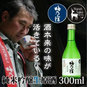 「梅乃宿」純米吟醸生原酒300ml/奈良県産ひのひかり/生酒/非加熱/冷酒/純米吟醸酒|nara-izumiya