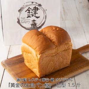 黄金の生食パン 極 山型 1.5斤 焼きたて 美味しい 高級食パン お取り寄せ ブレッド 朝食 KagiBakery カギベーカリー|naranokoto
