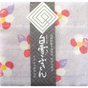 【奈良みやげ】 友禅染 白雪ふきん 椿(紫苑)|narazake