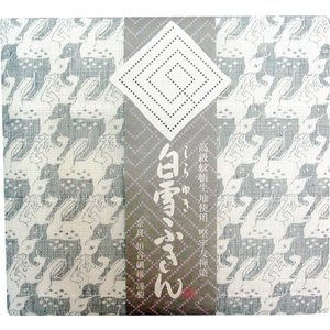【奈良みやげ】友禅染 白雪ふきん 鹿(シルバー)|narazake