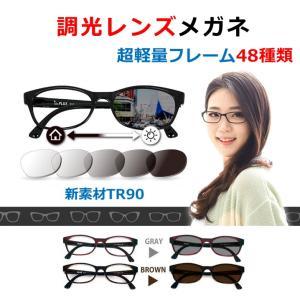 度付きメガネ 1.56球面の調光レンズ|nare-megane
